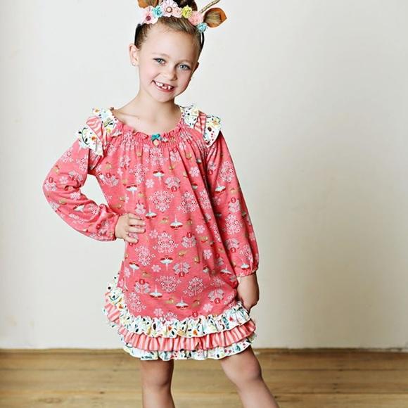 Matilda Jane Sleepyhead PJ Pajamas Gown Holiday Toddler Girls Size 2 NWT